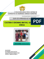 Segundo, Cultura e Idiomas Mayas, Guías II, Profa. Iris Chocooj y Prof. Oscar Molina