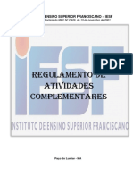 IESF REGULAMENTO DAS ATIVIDADES COMPLEMENTARES - LICENCIATURA