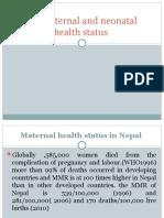 1.4 maternal and neonatal health status
