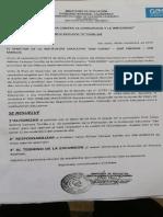 RESOLUCION DIRECTORAL VIAJE DE PROMOCIÓN DE CAMPOS TARRILLO Celso