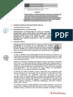 Términos de referencia del convenio con clínicas privadas