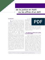 La réforme de la justice en Haïti ou les affres d'un défi - 661