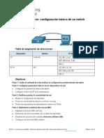 1.1.7 Lab - Basic Switch Configuration.docx