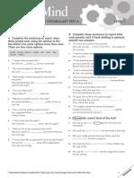 masterMind 1 Unit 3 grammar and vocabulary test A