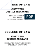 COLLEGE OF LAW ROOM ASSIGNMENT