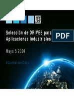 Webinar 5 de mayo Aplicaciones para la Industria Drives