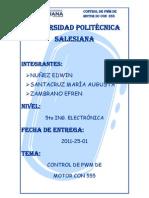 Control de Pwm de Motor Dc Con 555