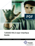 TJ5500 R4.0 User Interface Guide