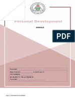 Personal Development Lesson 1