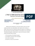 [6] 4 Steps to Make Good Use of Social Media