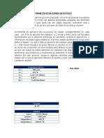 INFORME DE ECUACIONES DE ESTADO TERMODINAMICA I