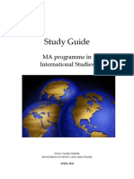 Study Guide MA in International Studies 2010