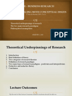 BR20 - Lecture 3 Dealing with conceptual issues; Theories nnderpinning research.pptx