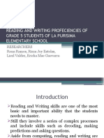 READING AND WRITING PROFECIENCIES OF GRADE 5 STUDENTS P.P