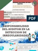 Responsabilidad en La Deteccion de Irregularidades