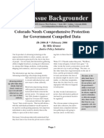 Colorado Needs Comprehensive Protection for Government Compelled Data