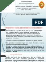 DICTADO DE CLASES ESTADISTICA CUARTA UNIDAD MEDIDAS DE DISPERSION