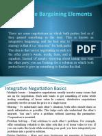 Integrative Bargaining Elements