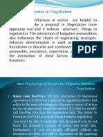 Best Psychological Secrets for Effective Business Negotiation