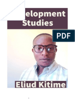 Eliud Kitime, Lecture Series on Development Studies