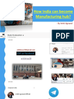 How India can become Manufacturing hub