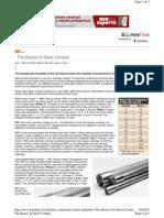 the basics of steeel conduit