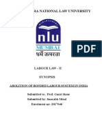 Labour Law-II (Synopsis)