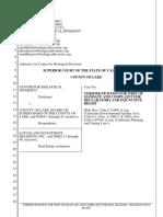 081920 Center for Biological Development Guenoc Valley resort lawsuit