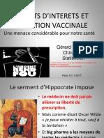 Conflits d'intérêts et Vaccins
