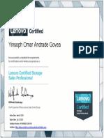 Lenovo Certified Storage Sales Professional certificate-2