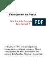L'avortement en France