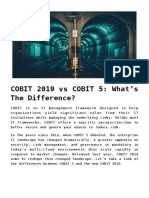 COBIT 2019 vs. COBIT 5