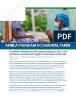 The COVID-19 Pandemic in Africa - Impact, Responses, And Lessons