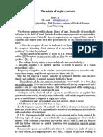 The origin of angina pectoris