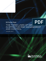 Position Paper The Three Lines of Defense in Effective Risk Management and Control