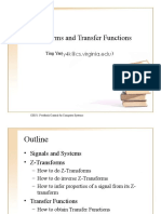 Z-Transforms and Transfer Functions
