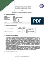 Sílabo de medio ambiente y mineria Mg. SELMA QUILLE VARGAS