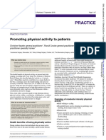 Promoting physical activity to patients