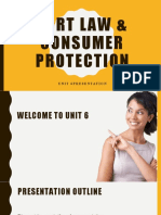The Law of Tort, Professional Liability and Consumer Protection