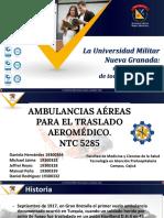 Transporte aeromedico NTC 5285