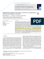 Experimental investigation of the in_uence of strain rate on strength_ failureattributes and mechanism of Jhiri shale