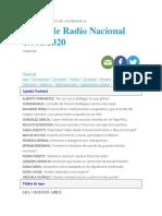Diario de Radio Nacional 19-08-2020