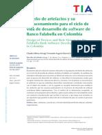Diseño de artefactos y su almacenamiento para el ciclo de vida de desarrollo de software de Banco Falabella en Colombia