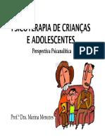 Psicoterapia infantil perspectiva psicanalítica Profa. Marina