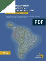 Libertad de expresión en América Latina hacia la Agenda 2030