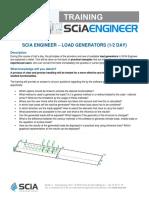 Scia Engineer - Load Generators en 2