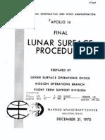 Apollo 14 Final Lunar Surface Procedures
