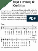 Einsingübung Beispiel Chor