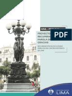 Proyecto de Recuperación de la Farola de Las Tres Gracias (PROLIMA - 2019)