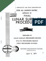 Apollo 15 Final Lunar Surface Procedures